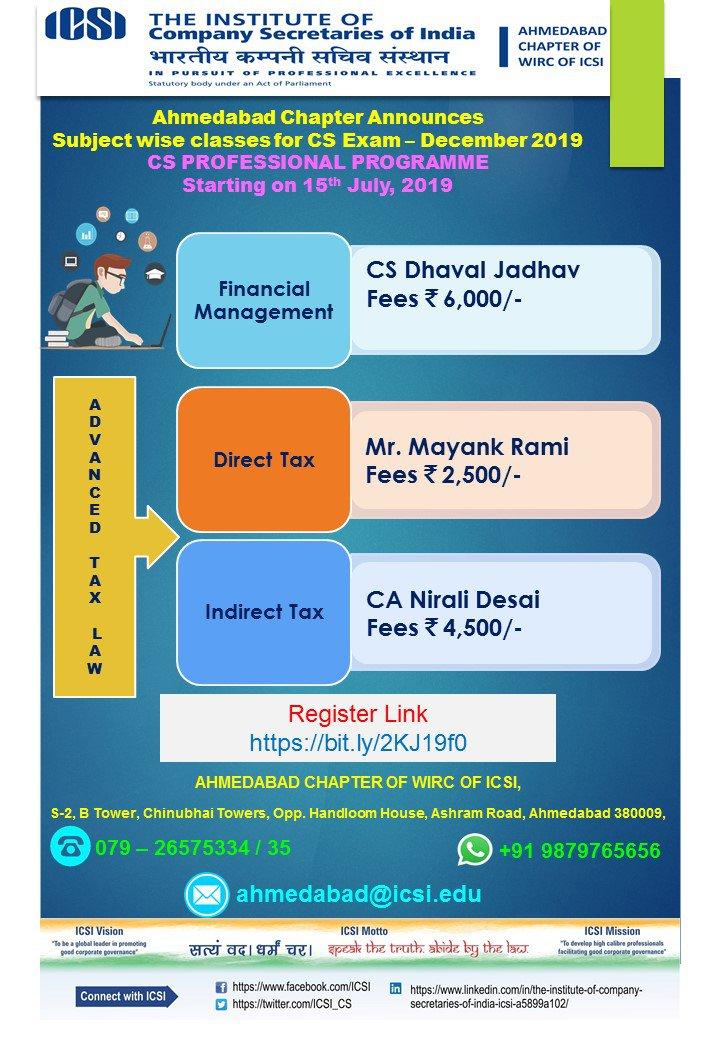 Cs registration fees